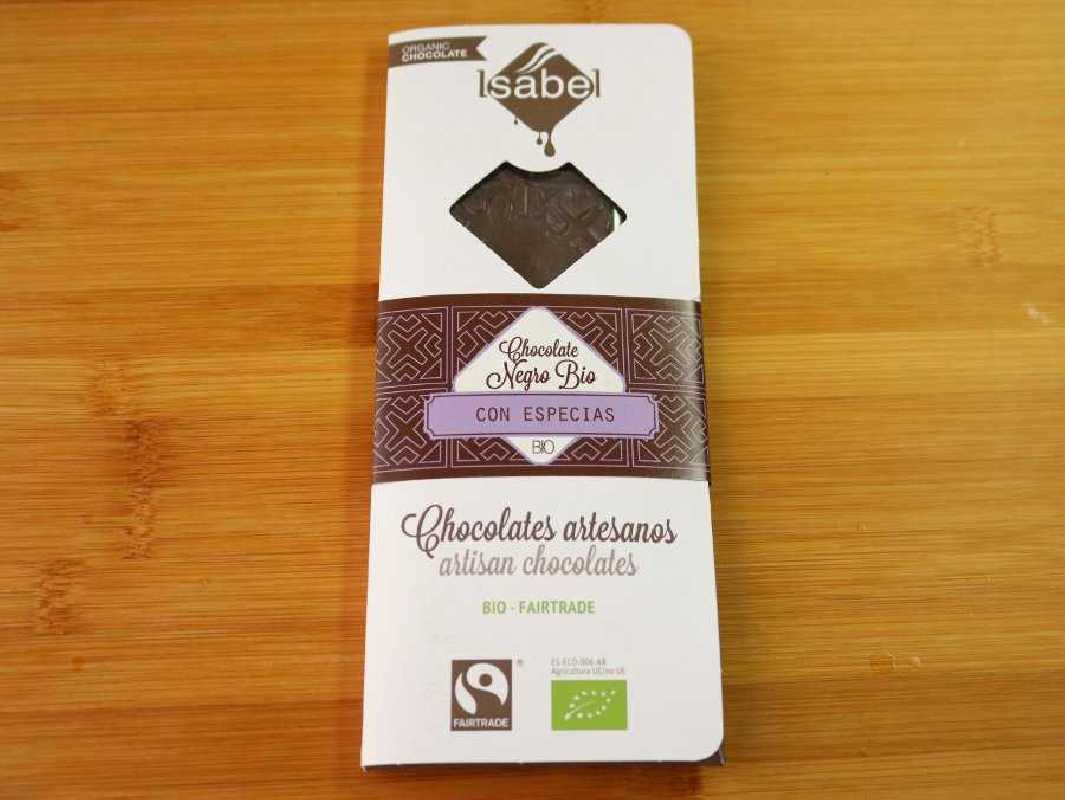 Chocolate ecológico con especias