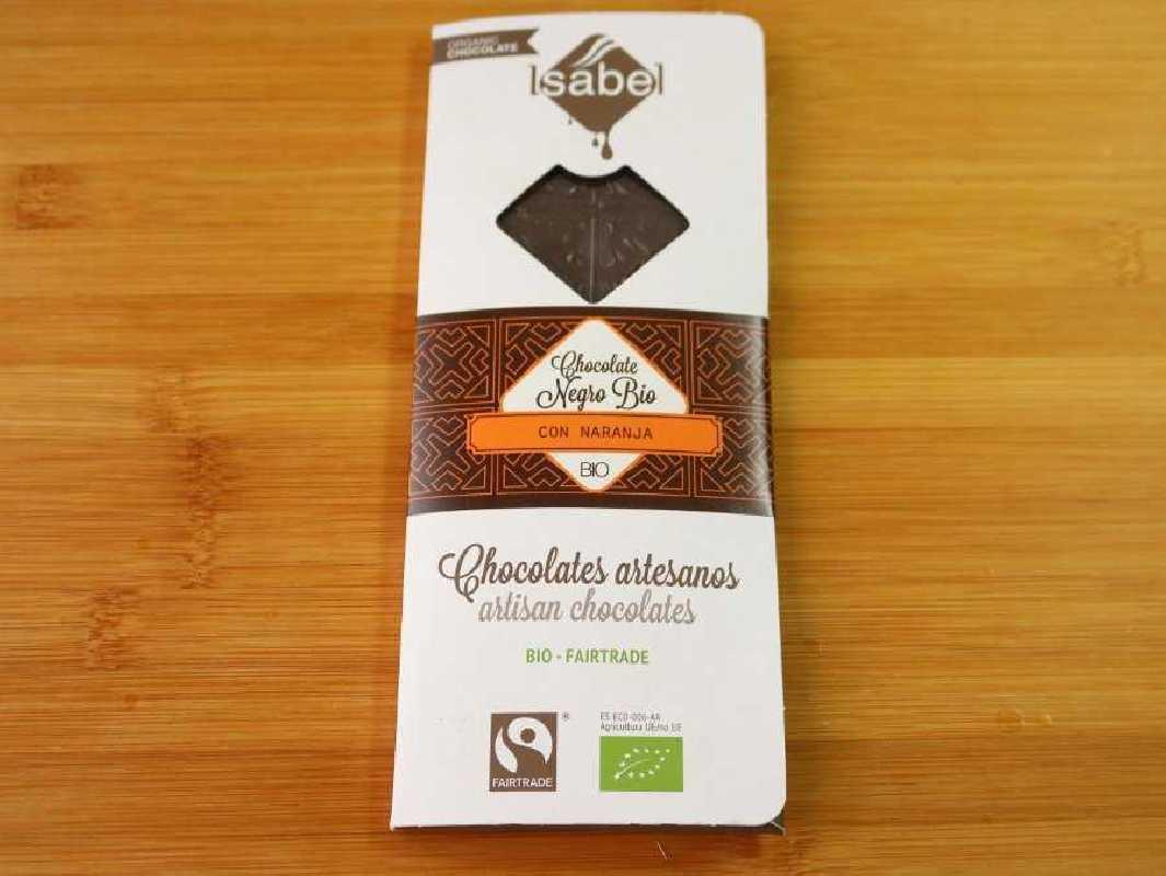 Chocolate Ecológico con Naranja